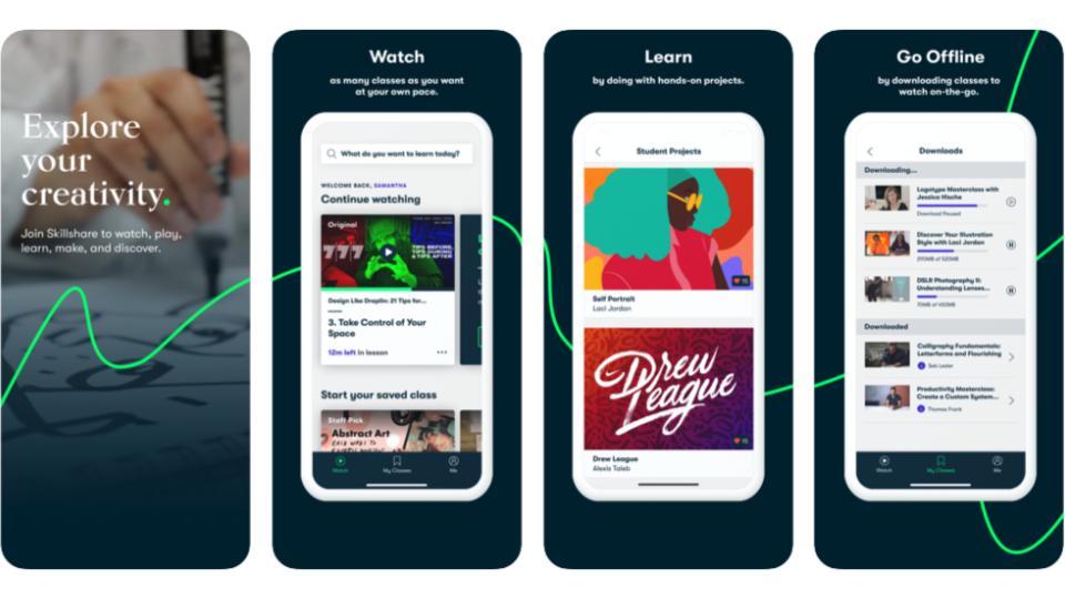 Benefit-App Skillshare