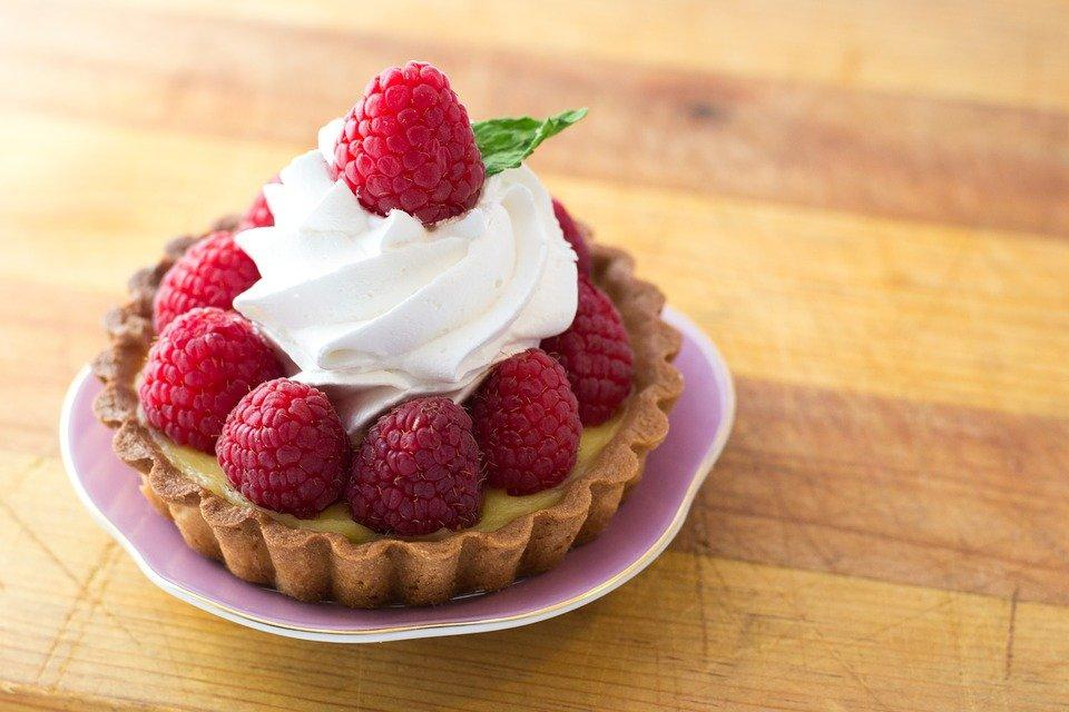 Tart, Raspberries, Whipped Cream, Raspberry Tart