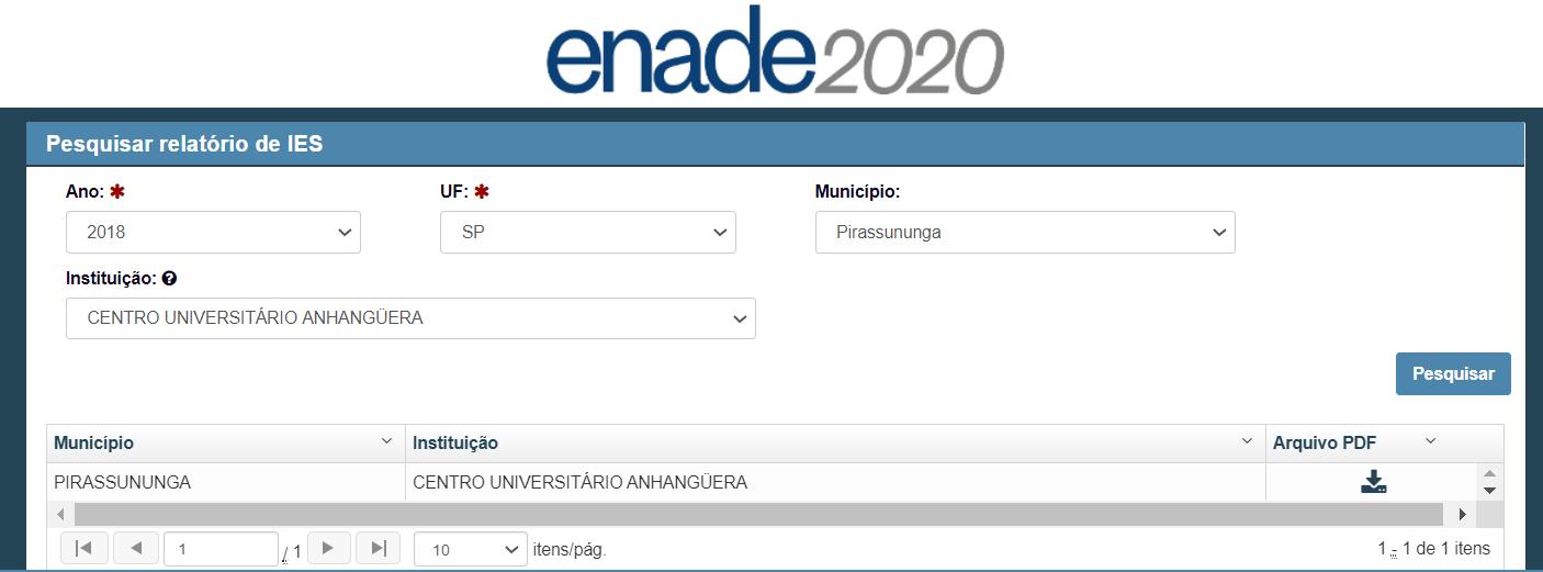 ENADE Anhanguera Pirassununga