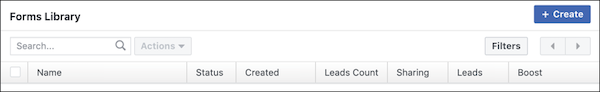 Facebook Forms Library for creating Lead Ads