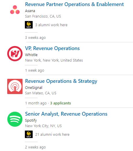 revenue operations job roles