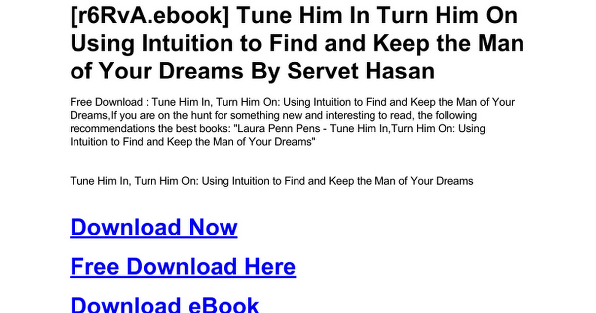 how to find the man of your dreams free download