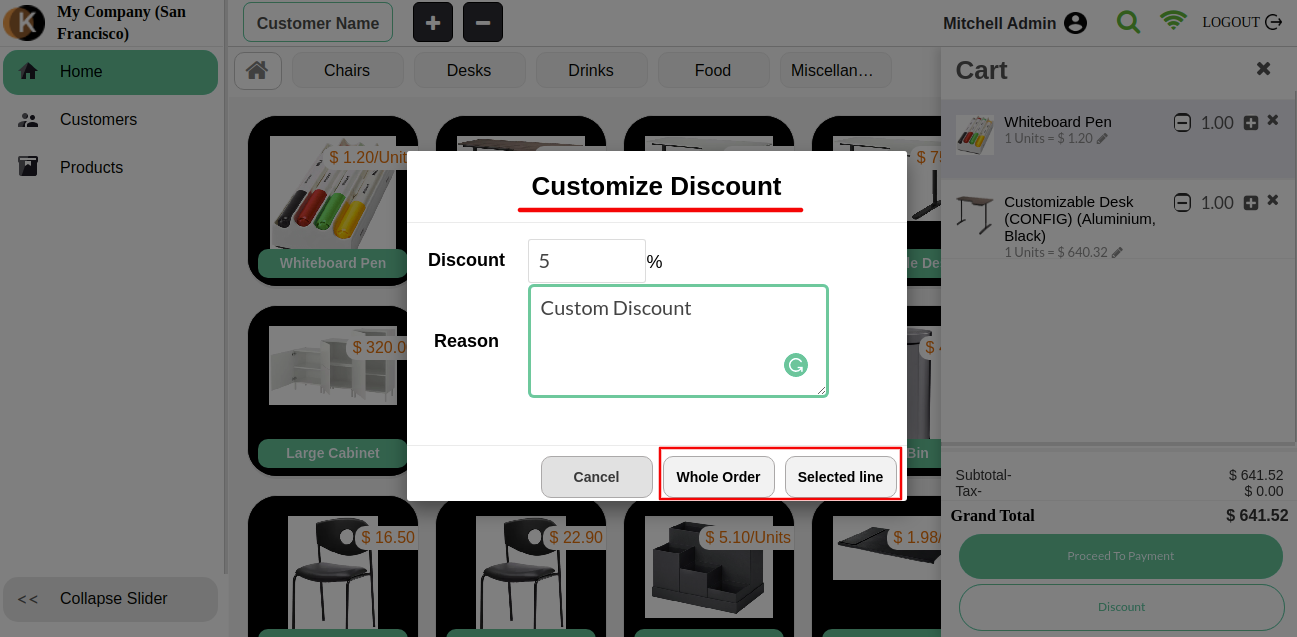 Can also add some custom discounts.
