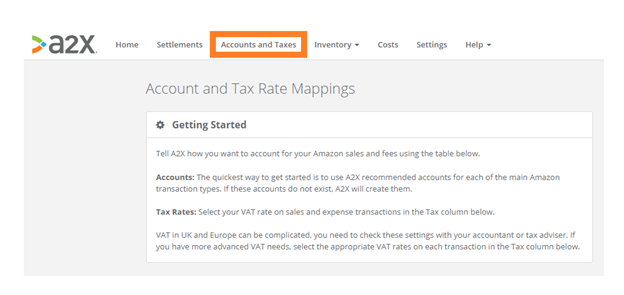 Accounts & Taxes