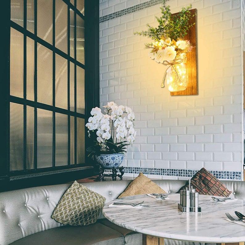 Farmhouse Mason Jar DIY Wall Decor