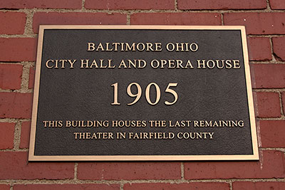 Baltimore Town Hall and Victoria Opera House Plaque