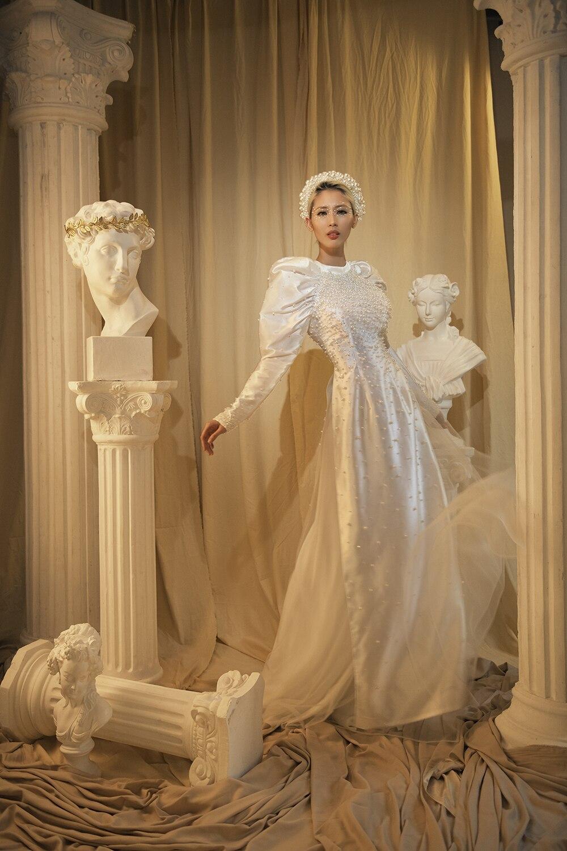 Áo dài cưới cá tính cho nàng dâu hiện đại tỏa sáng ngày vu quy Ảnh 3