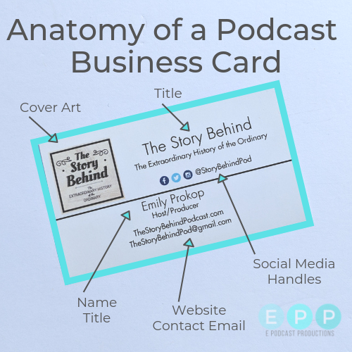 anatomy of podcast business card