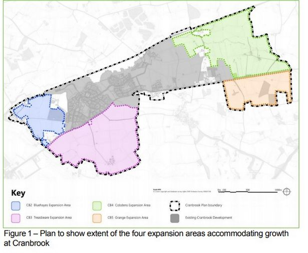 The four expansion areas of Cranbrook