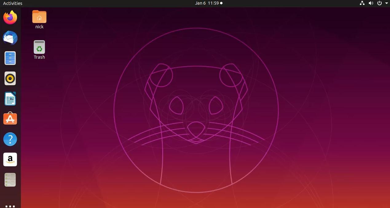 điều hướng màn hình ubuntu