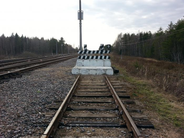 упор железнодорожный
