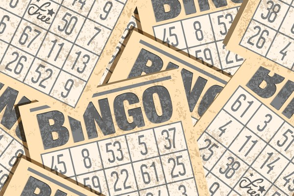 Multiple Bingo cards stack on top of each other