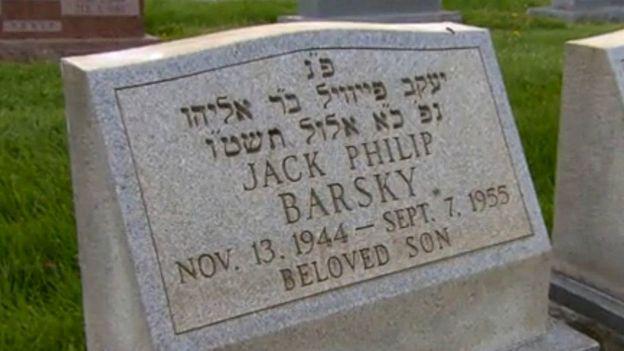 могила Джека Барски