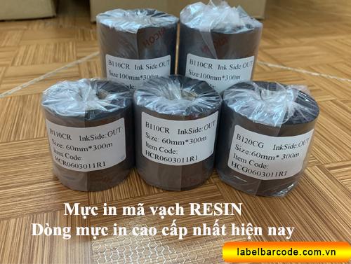 mực in mã vạch resin
