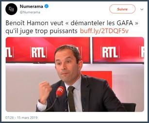 numerama hamon veut démanteler les GAFA