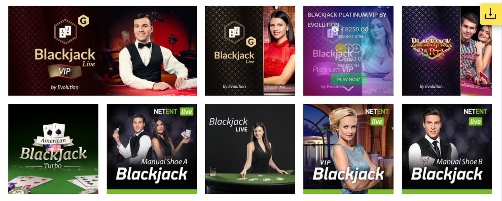 PlayOJO is a great online casino for playing live blackjack games