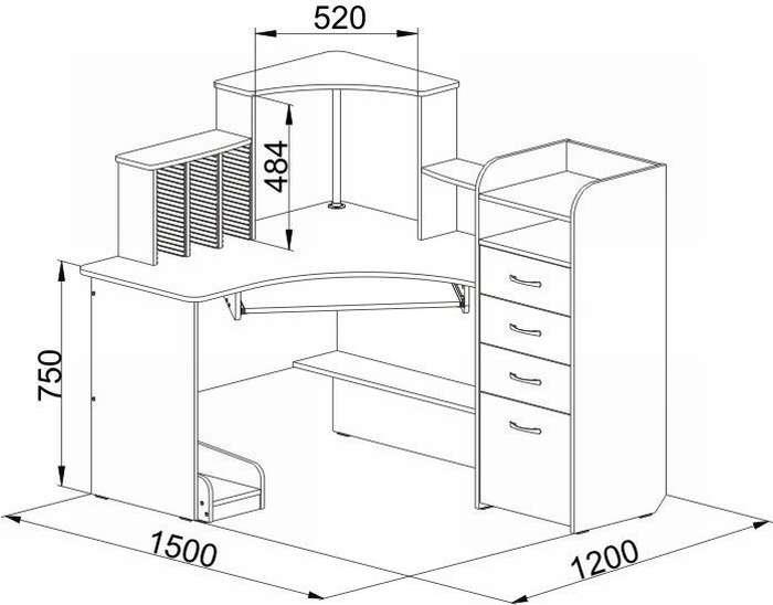 Простой компьютерный стол своими руками