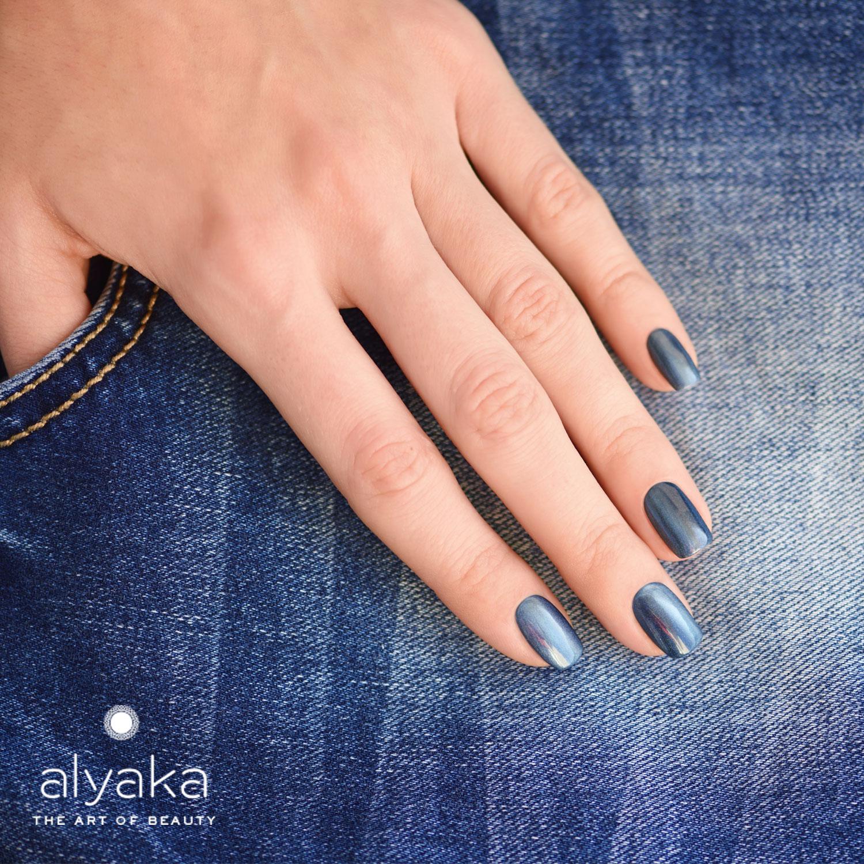 Denim Blue Celebrity Nails