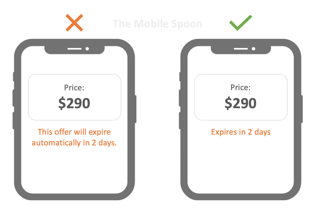 UX Writing guide - The best of the mobile spoon - UI Design and UX Writing