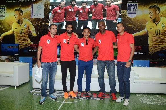 Z:\MAYURI SAXENA\MAYU\PES LEAGUE EVENT PICS\Mumbai City Football Club Team for PES Road to Milan Qualifier.JPG