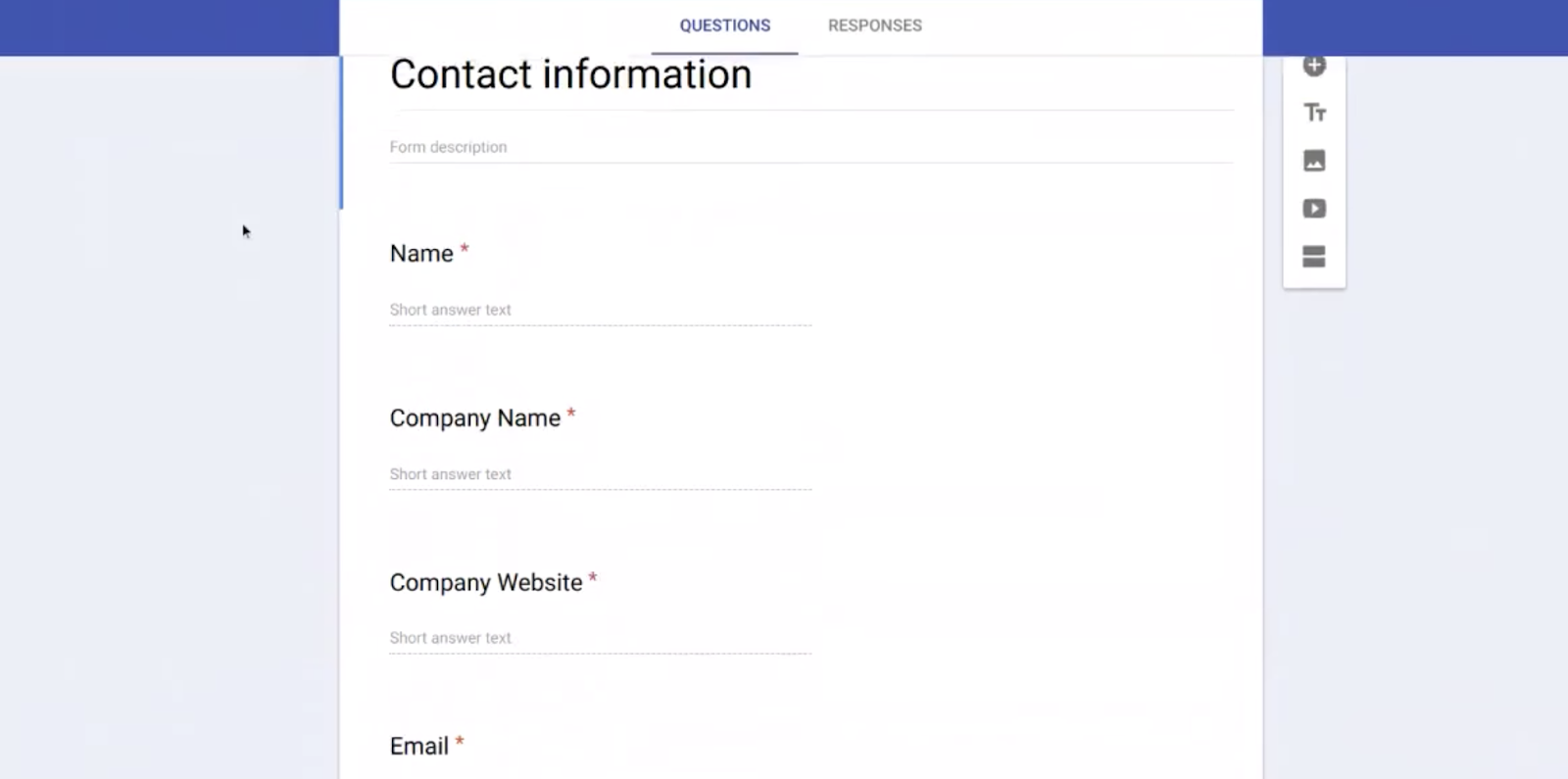 Google Form for your Simple CRM