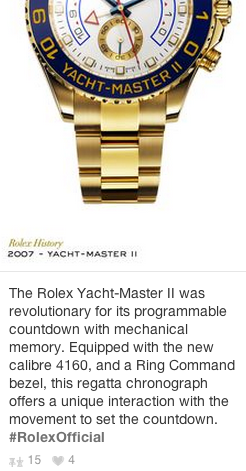 Rolex Content Marketing
