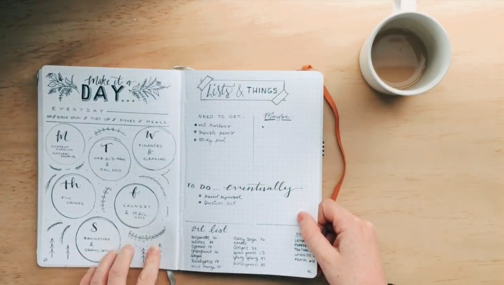 Bullet journals have plenty of space to be creative.