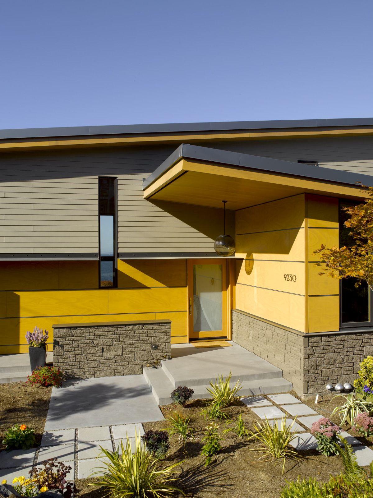 แบบบ้านโทนสีเหลือง