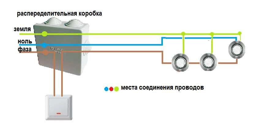 как подсоединить светодиодный светильник