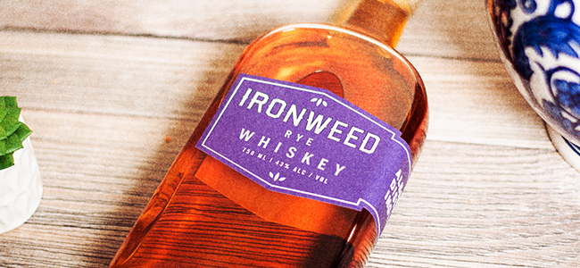 Bottle of Ironweed Rye Whiskey by Albany Distilling Co.