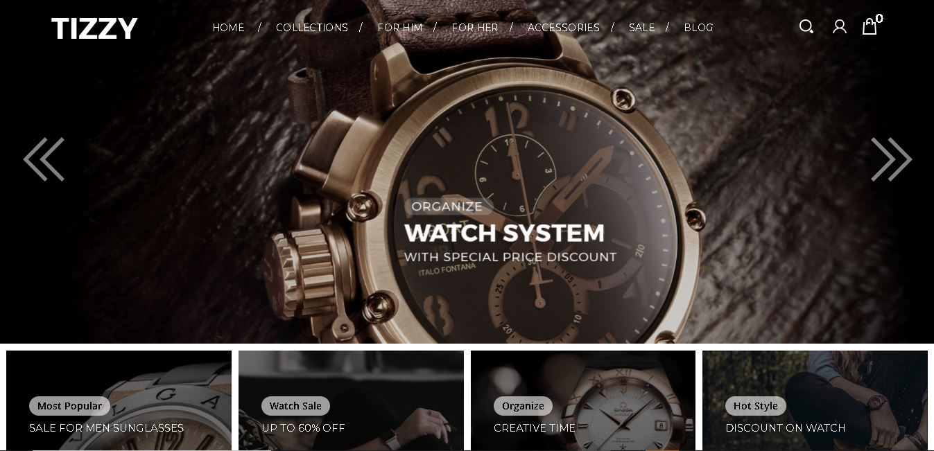 Watches magento theme tizzy