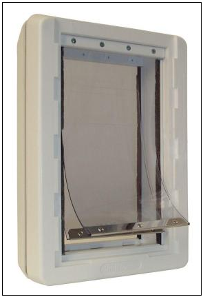 Ideal Original Pet Door with Clear Flap Ideal Ruff Weather with Completely Transparent Flaps & Replacement Flaps for Pet Doors | Parts u0026 Accessories