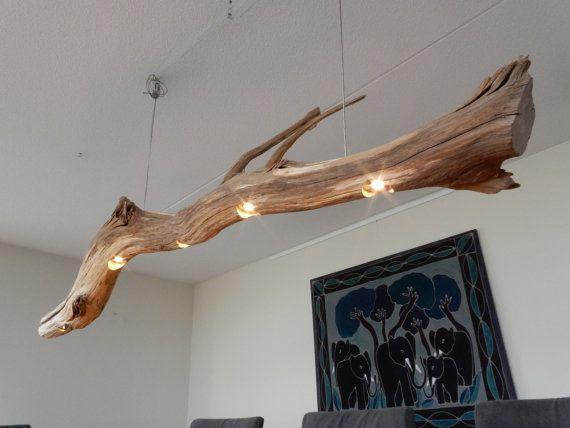 """Деревянная люстра для помещения в стиле """"Лофт"""""""