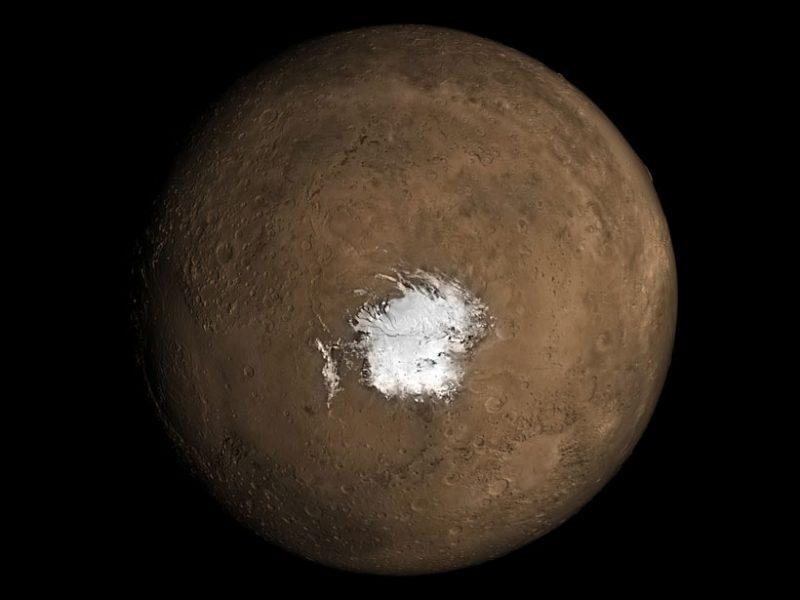 The South Pole on Mars. Image: NASA.