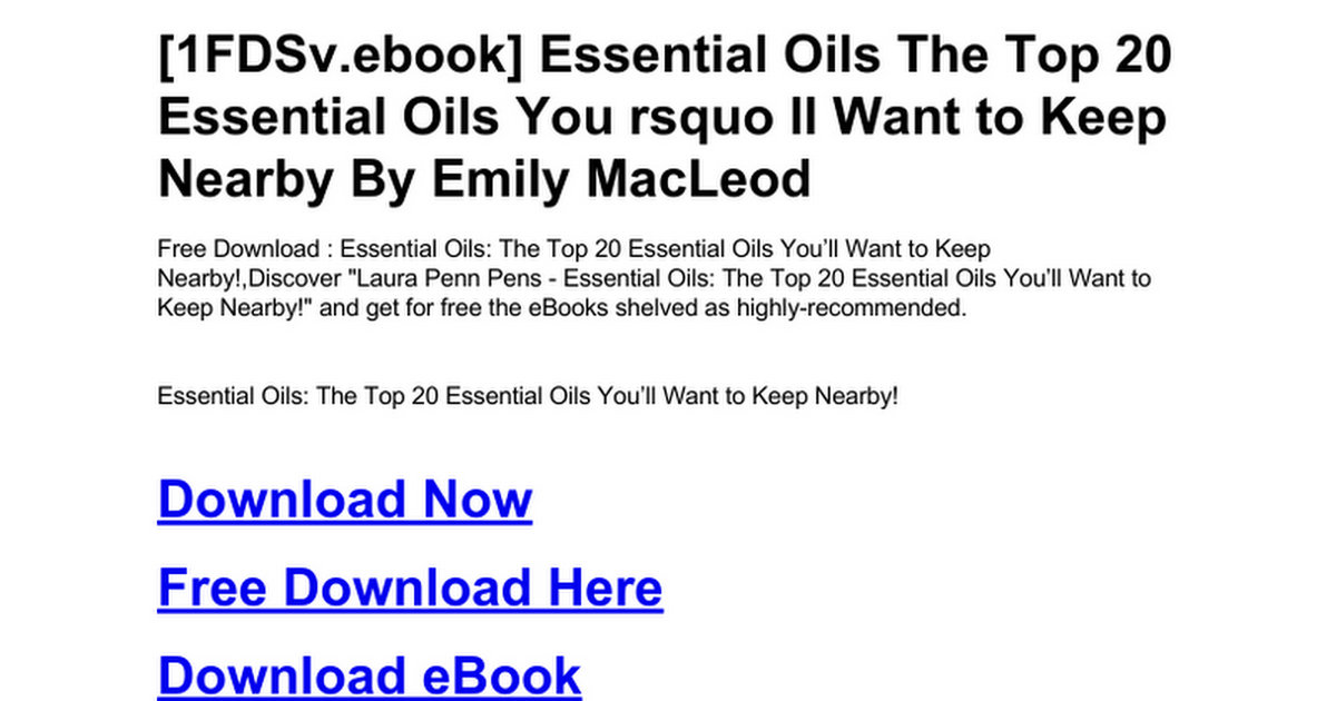 Essential Oils The Top 20 Essential Oils You Rsquo Ll Want To Keep