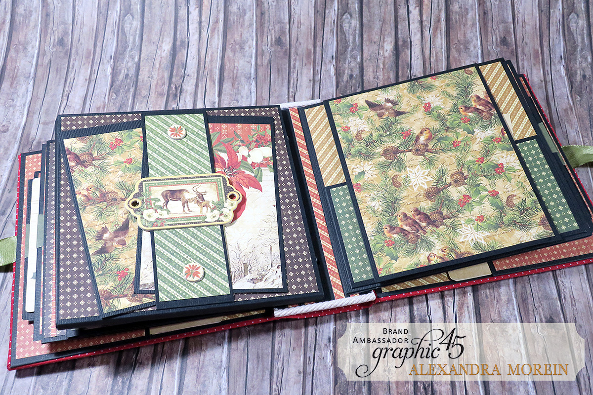 Winter Wonderland Mini Album, Project by Alexandra Morein, Product by Graphic 45, Photo 15.jpg