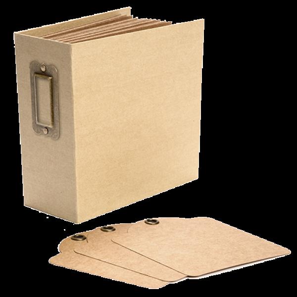 Square Tag & Pocket Album—Kraft