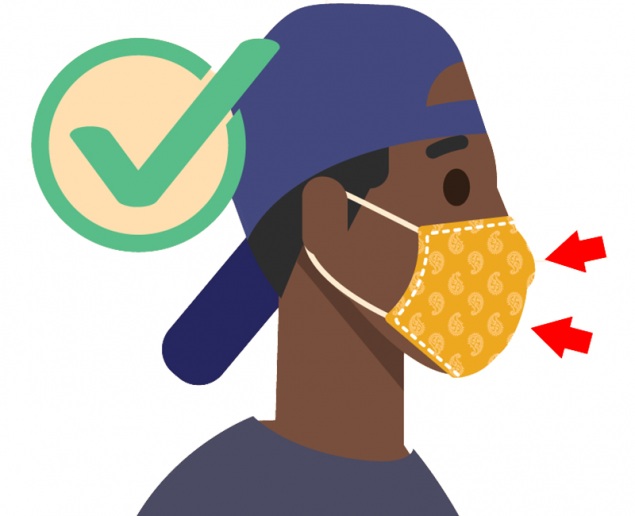 DO choose masks that completely cover your nose and mouth;