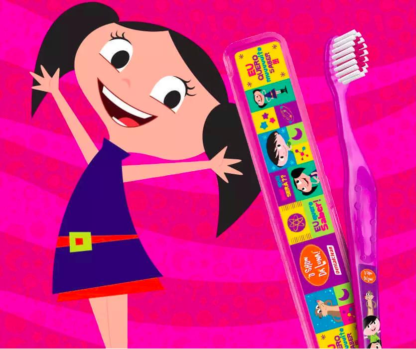 Escova de dente infantil show da luna