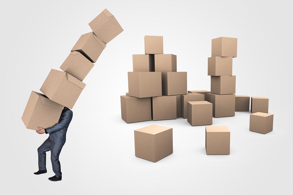 実業家, ボックス, トランスポート, 配信, 物流, ビジネス, 男, 人, 段ボール, 仕事, オフィス