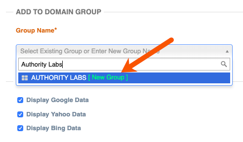 create domain group in authority labs