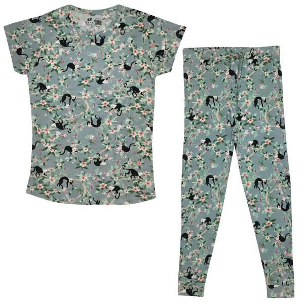 ست تی شرت و شلوار زنانه اچ اند ام مدل monkey_150255
