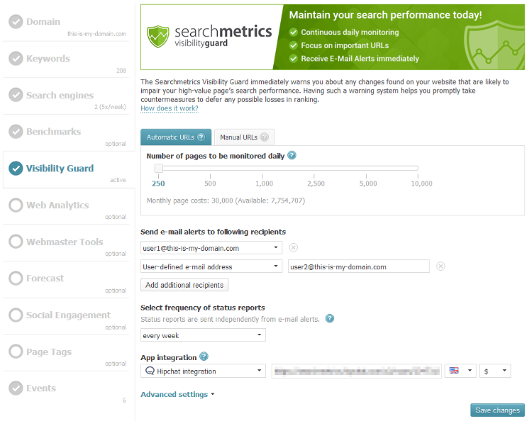 Search Metrics - analiza fraz kluczowych i monitoring konkurencji