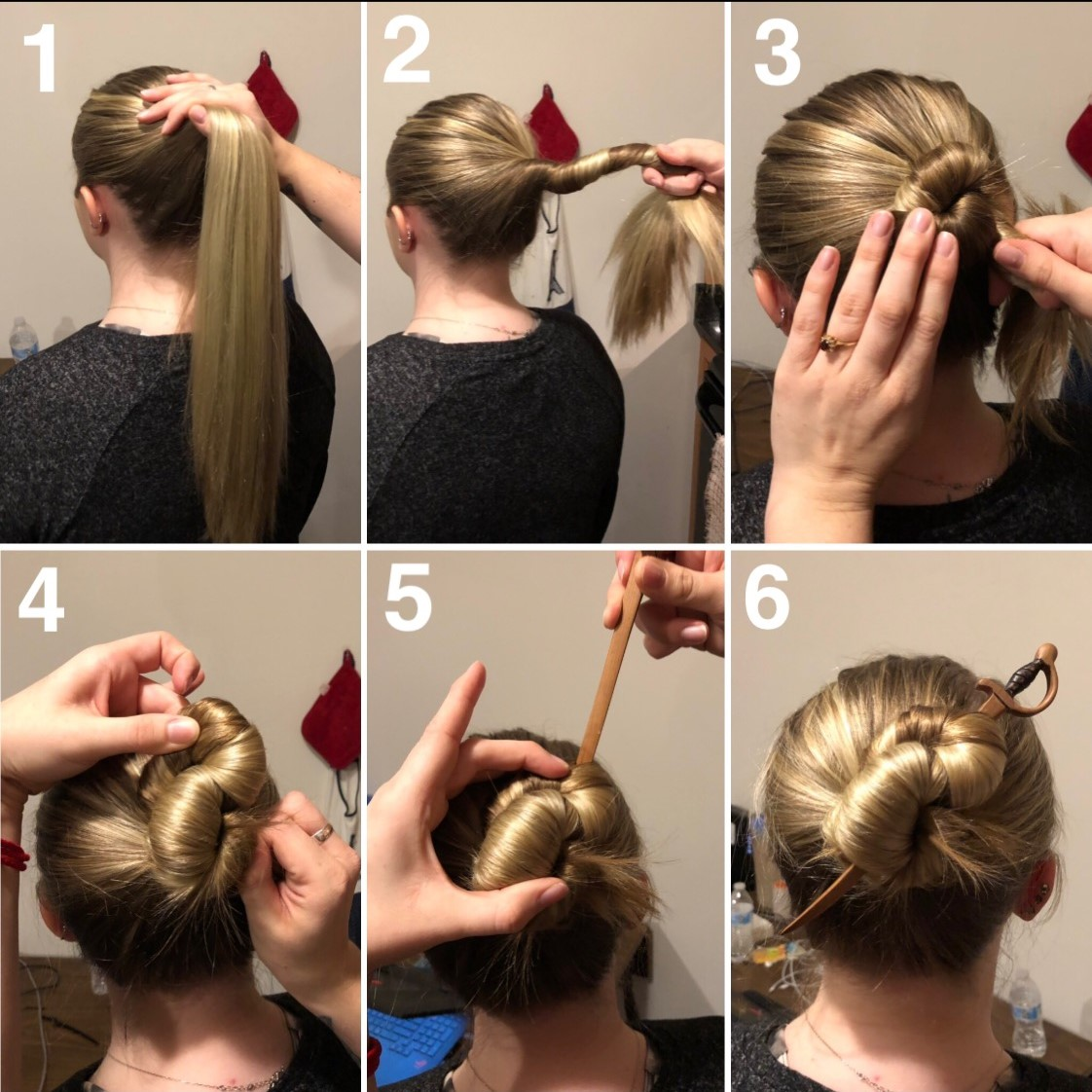 f6c35d151 Hair stick tutorial: an easy, trendy alternative to styling long ...