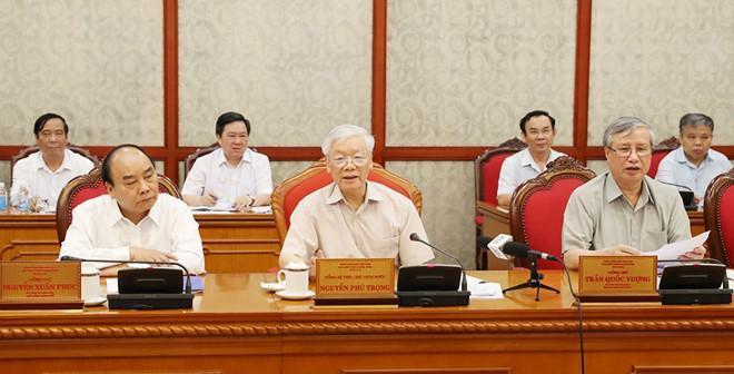 Một cuộc họp của Bộ Chính trị - Đảng Cộng sản Việt Nam, tháng 5/2019. Ảnh: TTXVN.