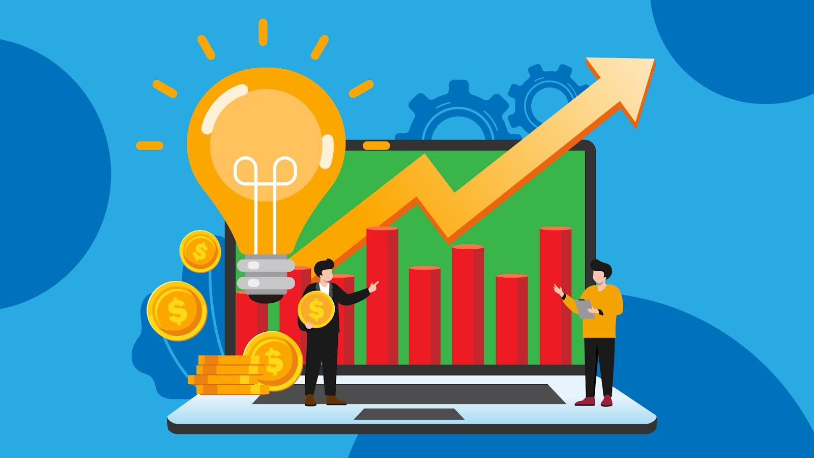 Graphic depicting sales effectiveness