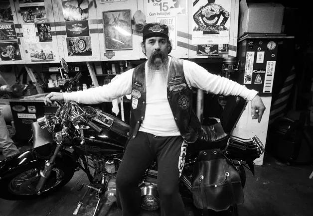 Vintage biker vest