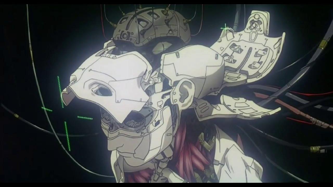 Кадр из аниме «Призрак в доспехах», режиссёр Мамору Осии