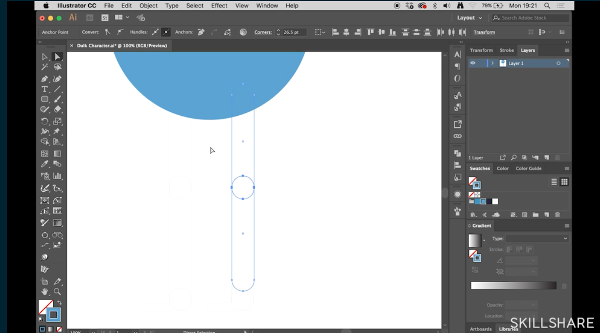 make a character in illustrator