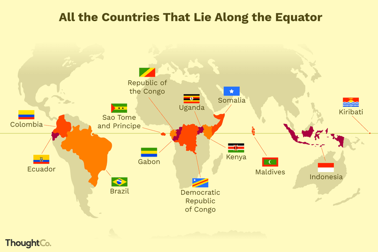 Image result for equator countries